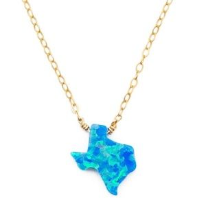 Texas Blue Fire Opal Necklace